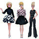 Fashion Handmade Casual Clothes Lady Outfits Jumpsuits Dress Black F Barbie Doll