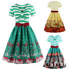 Vintage 50's Retro Dresses Rockabilly Pinup Party Housewife Swing Cocktail Dress