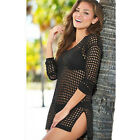 Summer Lady Crochet Beach Bikini Cover Up Dress Cardigan Swimwear Bathing hollow