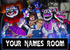 Personalised FNAF  Name Plaques A5 Five Nights At Freddies Free Sticky Pads Too!