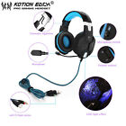 EACH G1000 PC Gaming Bass Stereo Headset Microphone LED Light Laptop Computer SW