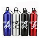 750ml Aluminium Bicycle Water Bottle Cycling Bike Camping Drink Outdoor Sports