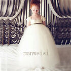White Bridesmaid Flower Girl Dresses Wedding Ball Gowns Party Prom Princess New