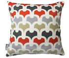 ACCENT PEMBURY AMBER RED CONTEMPORARY SCATTER CUSHION COVER THROW PILLOW 45cm