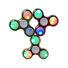 2-50 Assorted Lot of Tri Fidget Spinner Metallic LED Game Toy for Kids and Adult