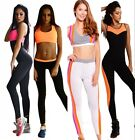 Womens Tight Yoga Jumpsuit One Pieces Sleeveless Bandage Sport Romper Playsuit