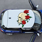Skull Roses Bones  Full Color Car Decal Sticker KC-287 FRST