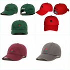 US STOCK The Hundreds Dad Hats Rose Flower Embroidered Curve