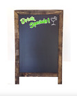 """A FRAME - 2 Sided Chalkboard - PRE PRINTED - Drink Specials!  20"""" x 32"""""""
