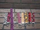 Hand made Personalized Wristlet Keychain animal print  zebra, leopard, paw,