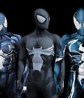New Black Symbiote Venom 1 Spider-Man 3D Printing With Muscle Shading Costume
