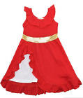 Girls Elena of Avalor Red Dress Costume Sizes 2T/3T-7/8 Princess Outfit Cosplay