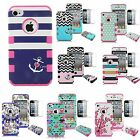 Hybrid 3 in 1 Shockproof Rubber Matte Hard TUFF Case Cover For Apple iPhone 4 4S