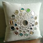 "Mirror Beige Pillow Covers, Cotton Linen 12""x12"" Pillow Cover - Circle Of Life"