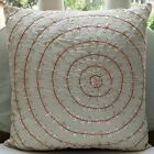 "White Spiral 12""x12"" Silk Throw Pillows Cover - The Wheel Of Pearls"