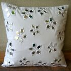 "White Mirror 12""x12"" Cotton Canvas Throw Pillows Cover - Floral Lake"