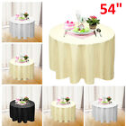 "54"" Round Tablecloth Polyester Table Cover Cloth Banquet Wedding Party"