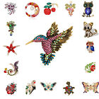 Womens Fashion Jewelry Colorful Crystal Brooch Drip oil Corsage Gift Accessories