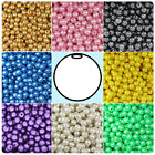 300 Pearl 8mm Round Plastic Craft Beads Made in the USA - Color Choice