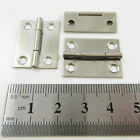 10 x SILVER or ANTIQUE BRASS  25mm x 19mm HINGES CABINET LID CASE HARDWARE