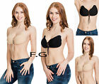 Strapless Bra Backless Silicone Stick On Push Up Underwear Womens Enhancing Bust