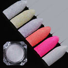 Nail Art Holographic Sugar Glitter Powder Colorful Sandy Nail Pigment 12 Colors