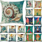"18"" Ocean Beach Sea Cotton Linen Pillow Case Sofa Throw Cushion Cover Home Decor"