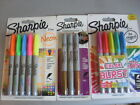 SHARPIE PENS PACK OF 4 OR 5 NEON OR 5 COLOR BURST OR 3 METALIC FINE  NEW COLOURS