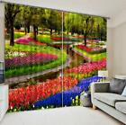 3D Flowers Trees 1 Blockout Photo Curtain Printing Curtains Drapes Fabric Window