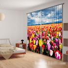 3D Flowers Field 9 Blockout Photo Curtain Printing Curtains Drapes Fabric Window