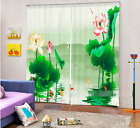 3D Lake Flowers 50 Blockout Photo Curtain Printing Curtains Drapes Fabric Window