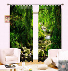 3D Forest Stream 2 Blockout Photo Curtain Printing Curtains Drapes Fabric Window
