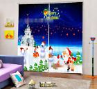 3D Snowman 932 Blockout Photo Curtain Printing Curtains Drapes Fabric Window AU