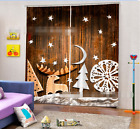 3D Cute Pattern Blockout Photo Curtain Printing Curtains Drapes Fabric Window AU