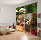3D Courtyard 72 Blockout Photo Curtain Printing Curtains Drapes Fabric Window AU