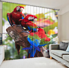 3D Parrots 813 Blockout Photo Curtain Printing Curtains Drapes Fabric Window AU