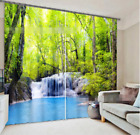 3D River Forest Blockout Photo Curtain Printing Curtains Drapes Fabric Window AU