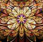 Stained Glass Pattern Ceiling WallPaper Murals Wall Print Decal Deco AJWALLPAPER
