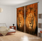3D Lion 0286 Blockout Photo Curtain Print Curtains Drapes Fabric Window UK