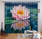 3D Lotus Large0593 Blockout Photo Curtain Print Curtains Drapes Fabric Window UK