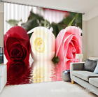 3D Rose Color 0257 Blockout Photo Curtain Print Curtains Drapes Fabric Window UK