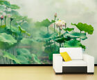 3D Lotus Flowers 086 WallPaper Murals Wall Print Decal Wall Deco AJ WALLPAPER