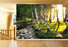 3D Forest Stream 586 WallPaper Murals Wall Print Decal Wall Deco AJ WALLPAPER