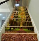 3D Forest Path 016 Stairs Risers Decoration Photo Mural Vinyl Decal Wallpaper US