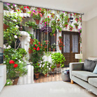 3D Potted 156 Blockout Photo Curtain Printing Curtains Drapes Fabric Window UK