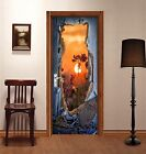 3D Hole Sunset 324 Door Wall Mural Photo Wall Sticker Decal Wall AJ WALLPAPER AU