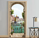 3D Riverside City Door Wall Mural Photo Wall Sticker Decal Wall AJ WALLPAPER AU