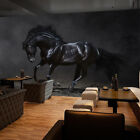 3D Black Horse 333 Wall Paper Wall Print Decal Wall Deco Indoor AJ Wall Paper