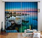 3D Dusk Lake 22 Blockout Photo Curtain Printing Curtains Drapes Fabric Window CA