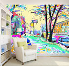 3D Cartoon city picture Wall Paper Wall Print Decal Wall Deco Indoor wall Murals